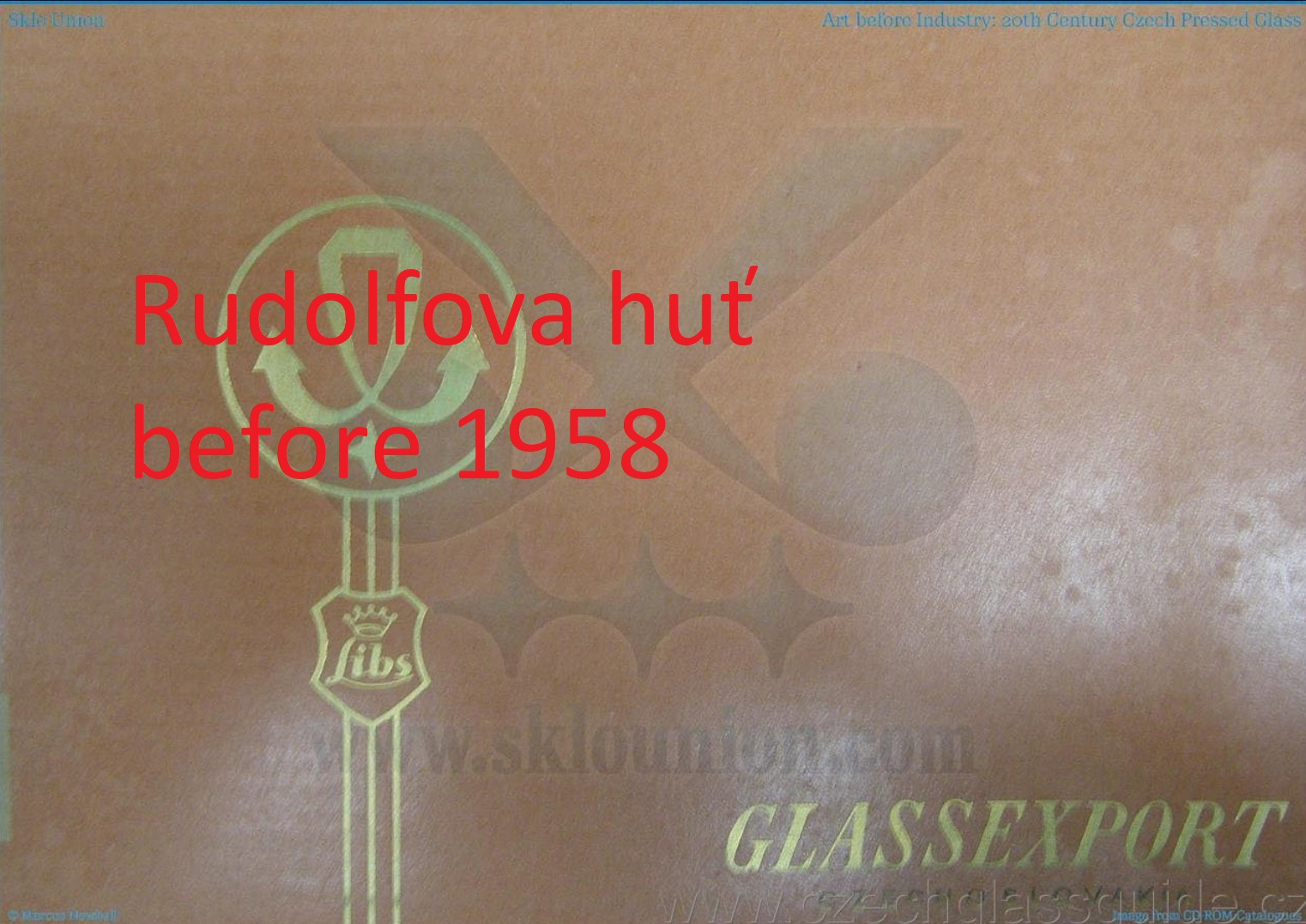 Rudolfova huť - Glassexport before 1958