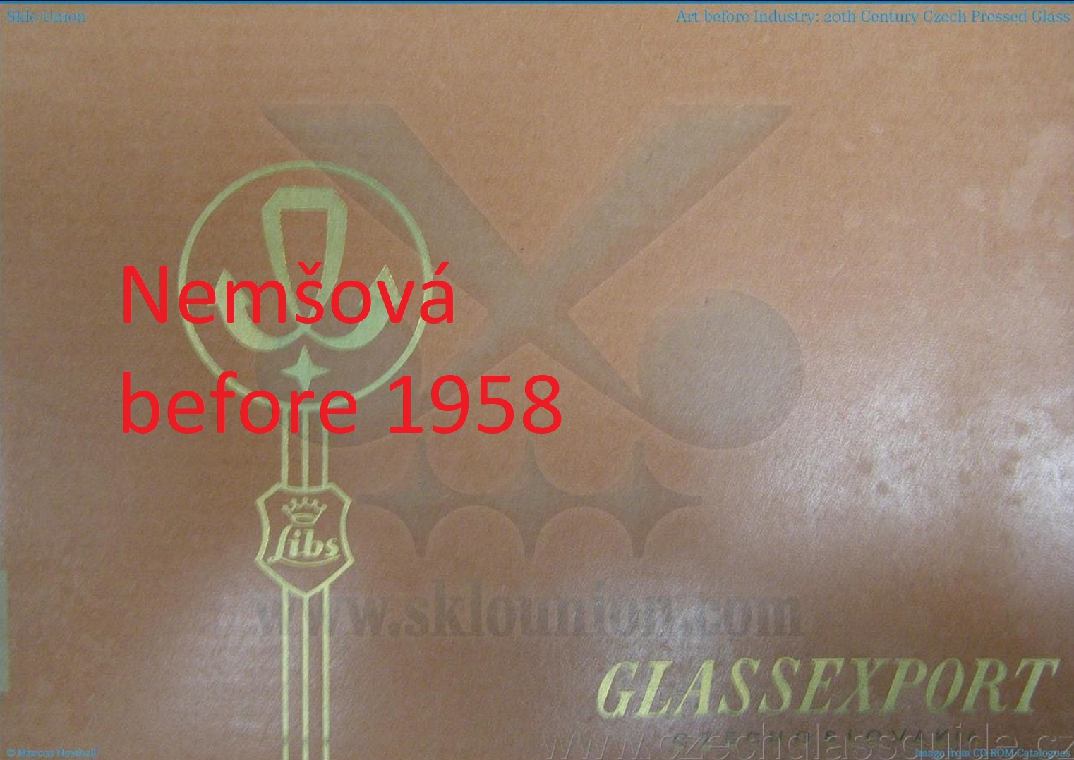 Nemšová - Glassexport before 1958