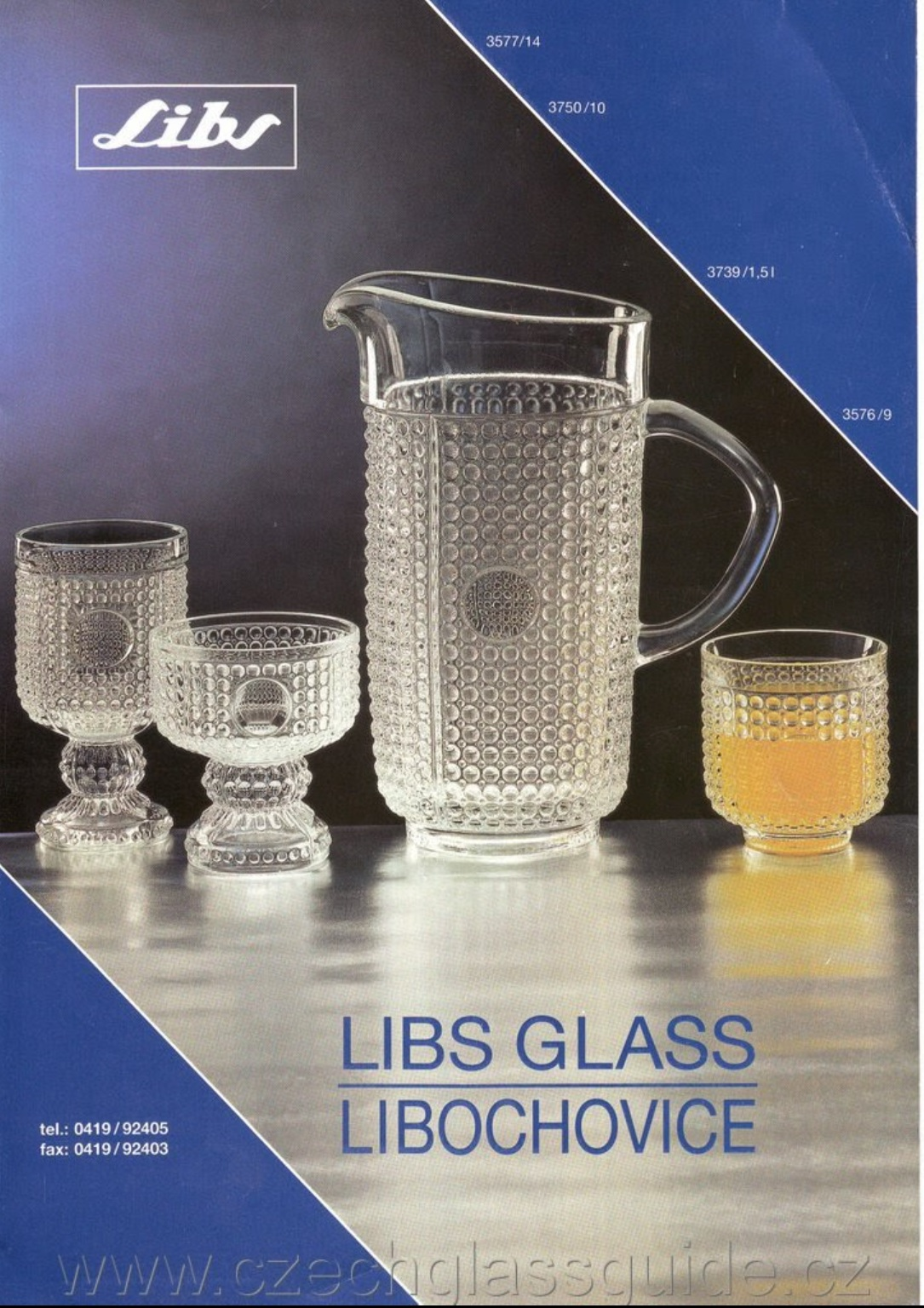 LIBS GLASS LIBOCHOVICE 1991